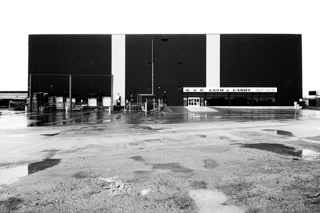 The Cash and Carry attached to an industrial facility shot by Toronto photographer Dennis Maricniak