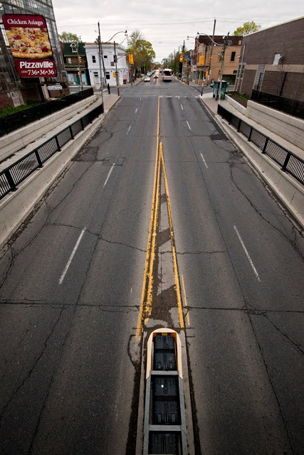 An overview of an underpass in Toronto