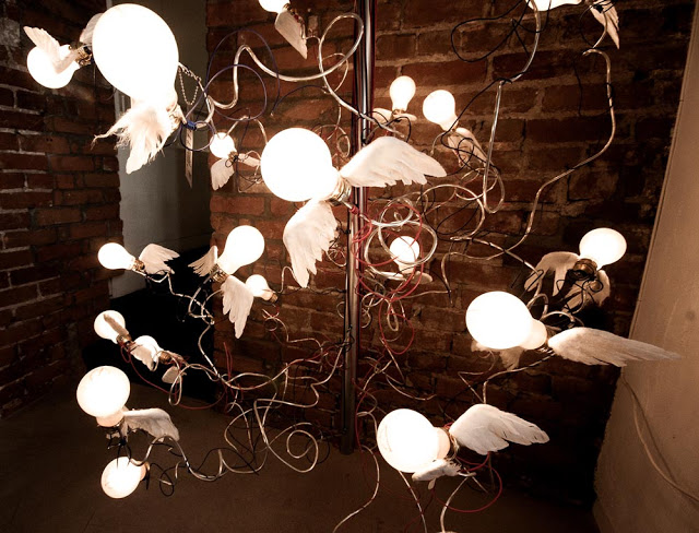 Kalus' flying lightbulbs as seen by photographer Dennis Marciniak