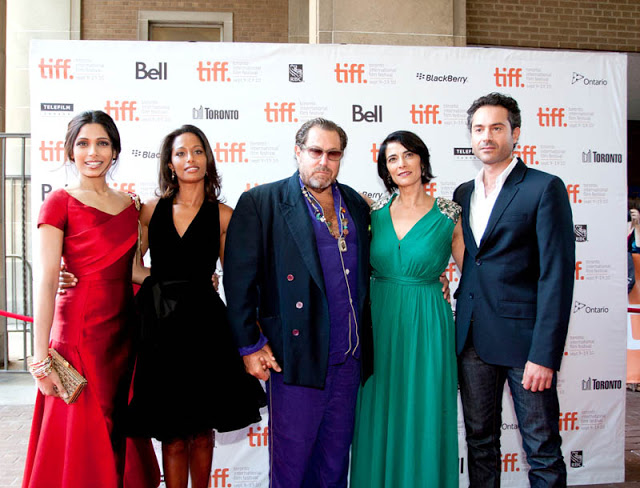 Freida Pinto, Rula Jebreal, Julian Schnabel, Hiam Abbass and Omar Metwally for Miral at TIFF 2010