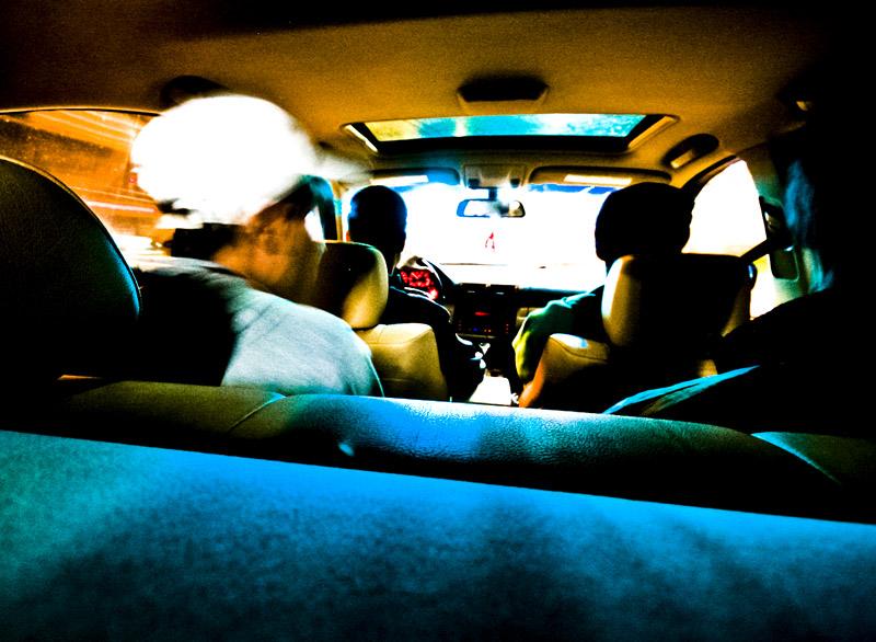 Bunch of friends in a Car