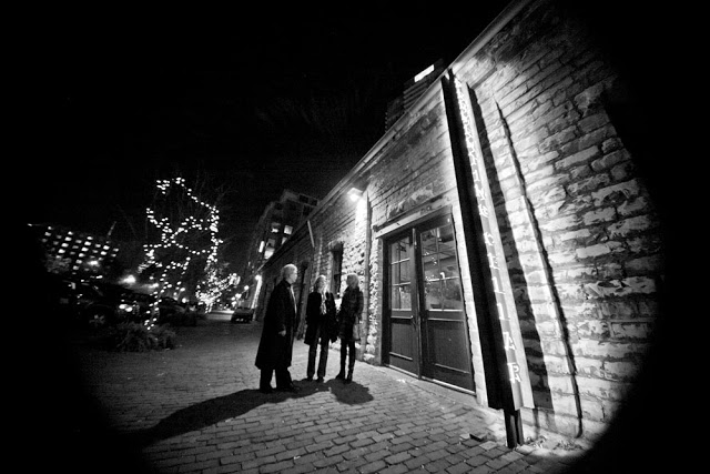 The distillery district at night as seen by Toronto photographer Dennis Marciniak
