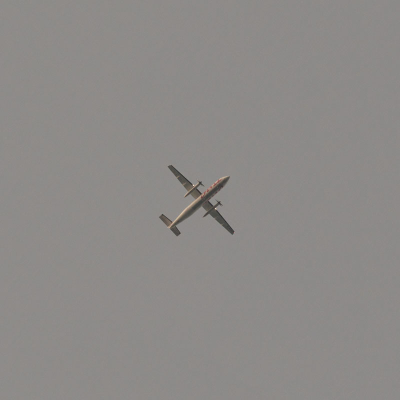 A Air Canada Jazz flight over the skies of Toronto