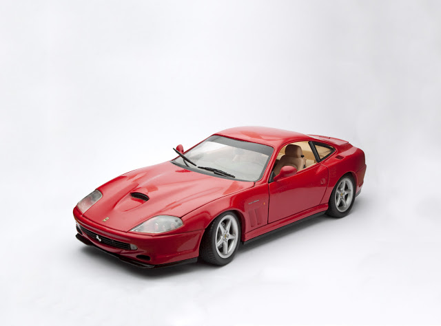 A Ferrari Maranello II, shot by Dennis Maricniak in the studio, is clearly a model