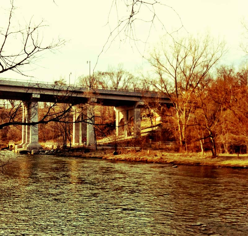 Bridge over the Humber River at Dundas In Toronto Canada