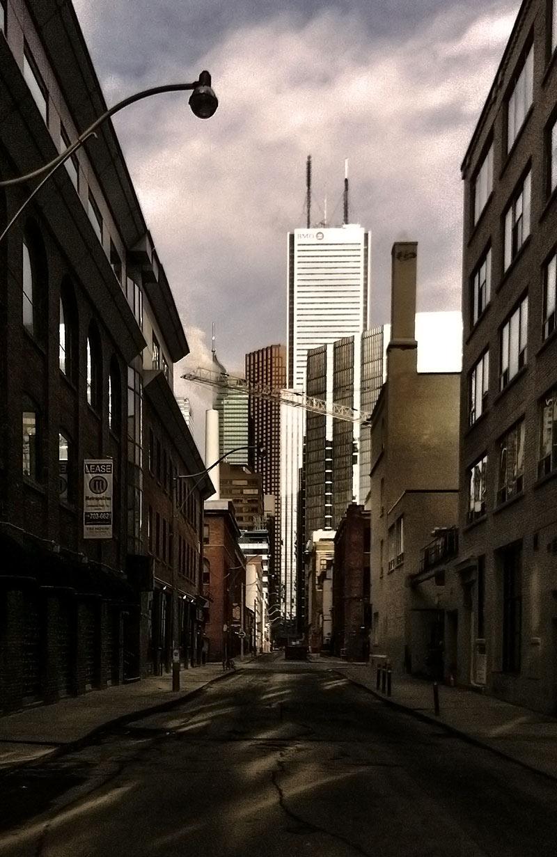 Pearl Street alleyway in Toronto Ontario Canada
