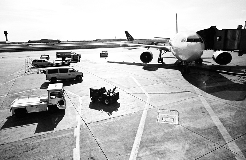 A plane waiting at Pearson