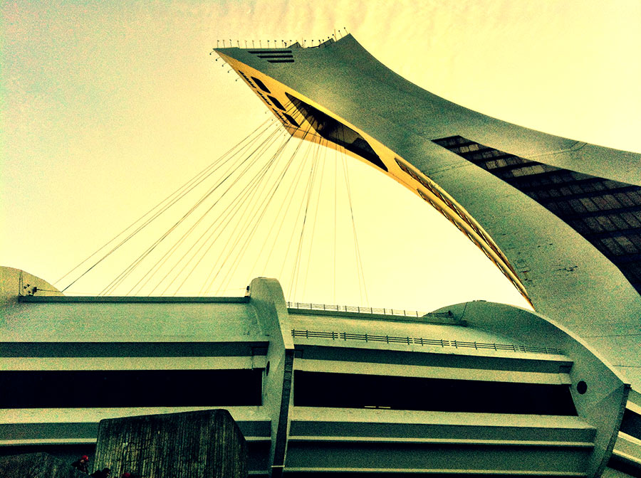 Montreal's Olympic Stadium as shot by Dennis Marciniak of denMAR Photography on the iPhone 4