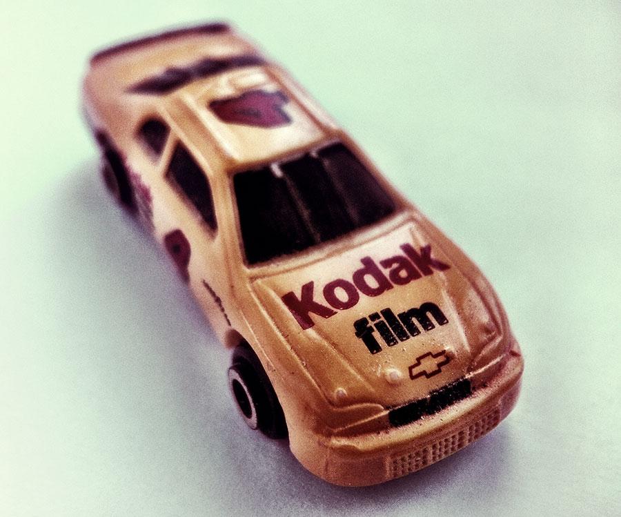 A kodak film Nascar Micromachine