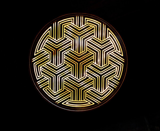 The pattern on the lights at the sterling room in Toronto