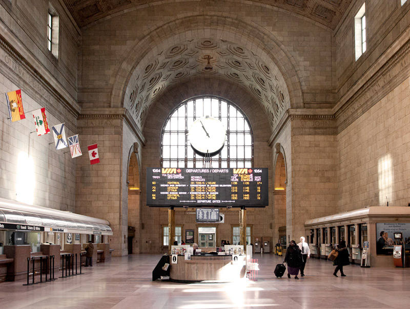 Union Station in the morning in Toronto Ontario Canada