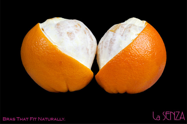 A pair of oranges to look like a bra for La Senza
