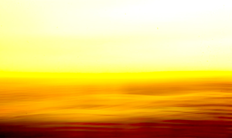 Abstract Sunset Waves