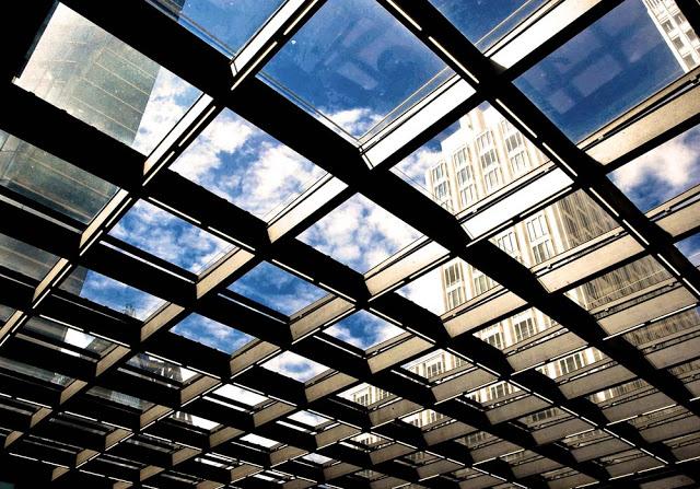 Potsdamer Platz S-Bahn Entrance Roof in Berlin as seen in 2008 by Dennis Marciniak