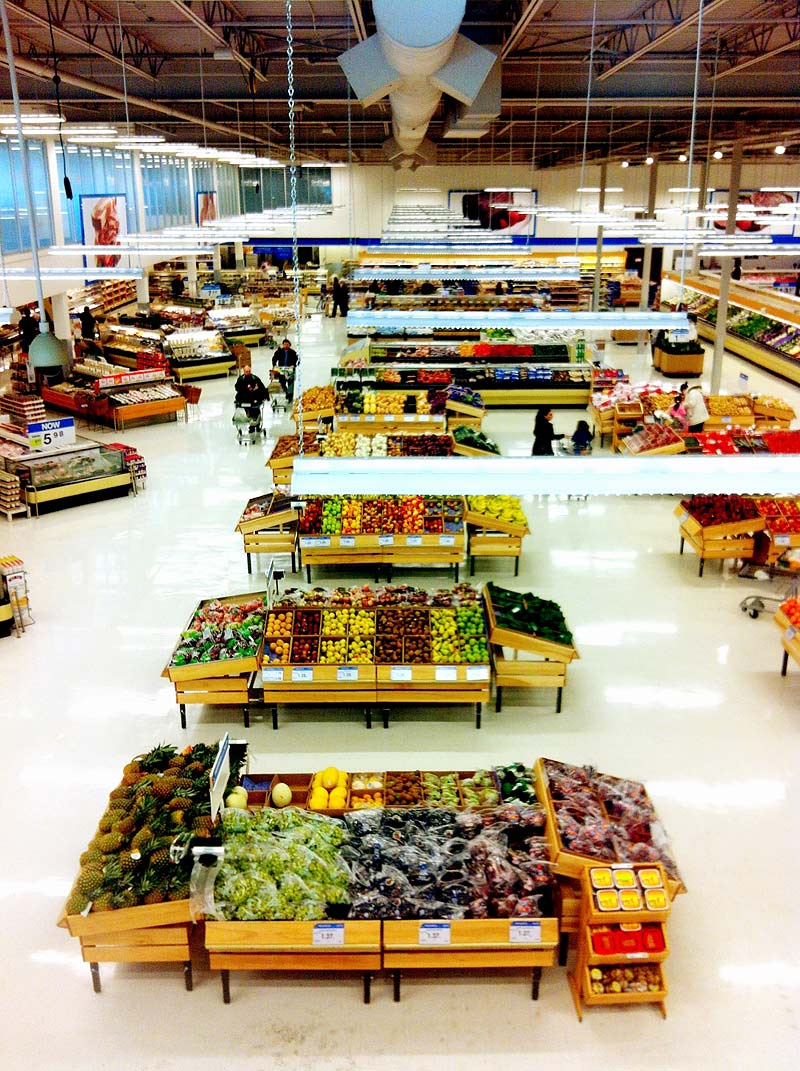 Grocery Store Produce Section at Real Canadian Superstore in Canada