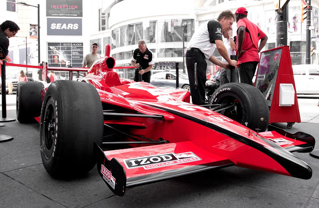 Honda Indy Toronto car on display
