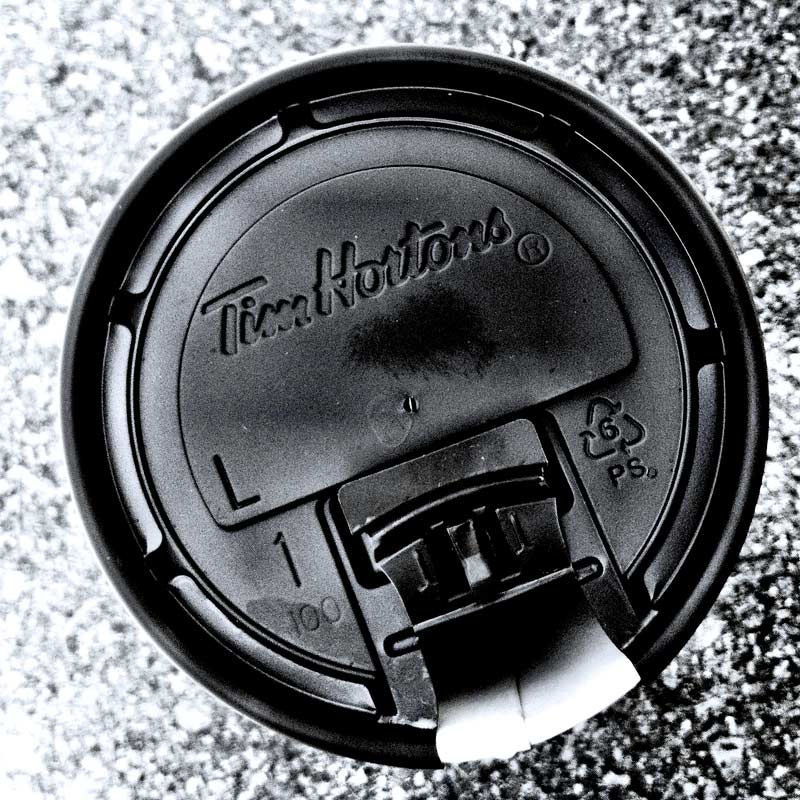 A Tim Hortons cup as founded by denMAR