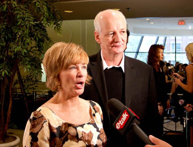 Colin Mochrie and his wife Debra McGrath answering questions for etalk at TIFF 2010