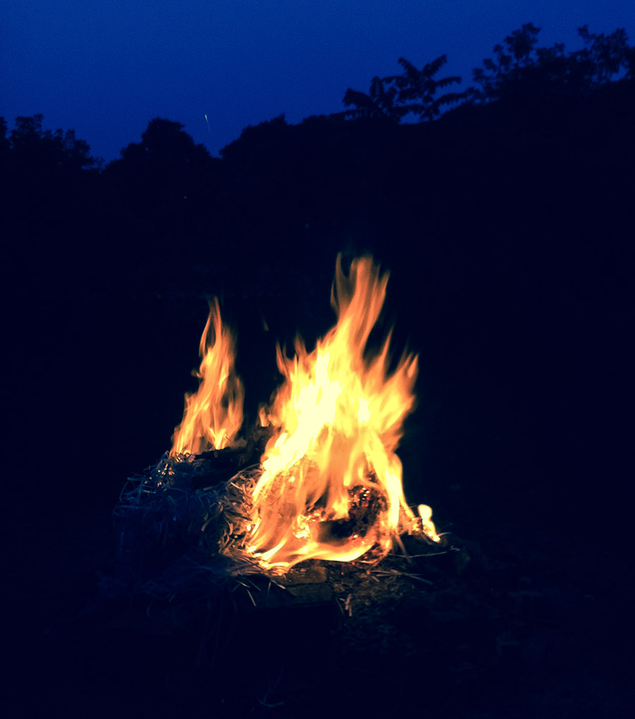 A fire made by denMAR