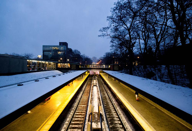 Rosedale Station in the Snow