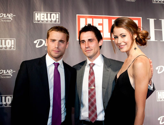 Dustin Milligan, Rick de Kelrk and Amanda Crew at TIFF 2010