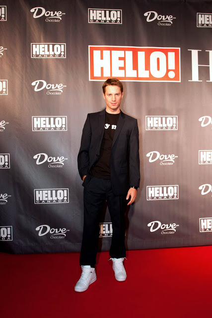 Johnathon Keltz from Entourage (Ari's assistant) on the red carpet at Hello! Canada during TIFF 2010