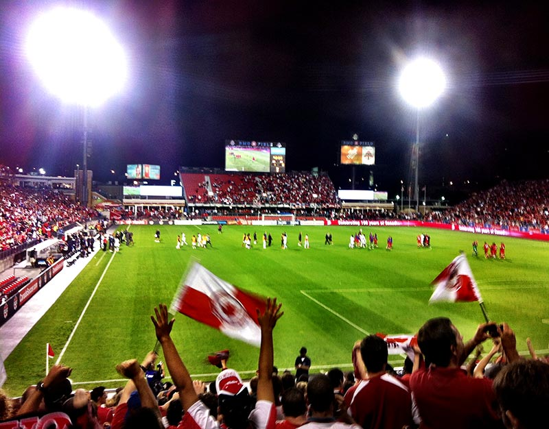 Canada vs Panama in a 2014 World Cup Qualifier in Toronto Canada