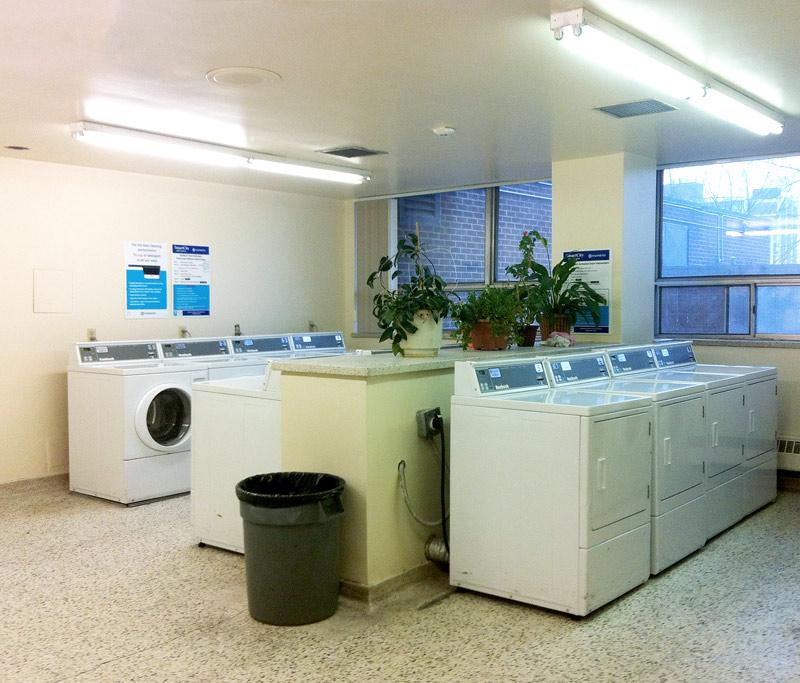 A laundry room in Toronto Ontario Canada