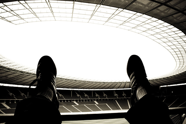 Dennis Marciniak hanging out at Berlin's Olympiastadion.