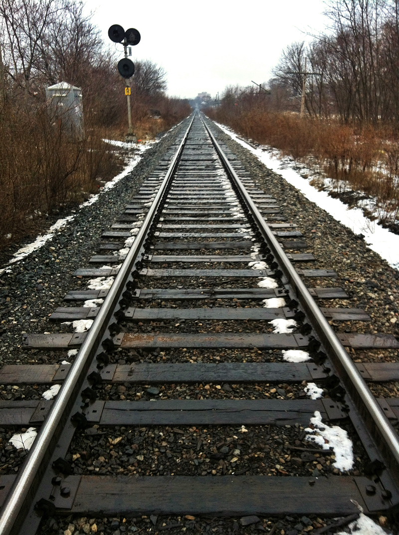 Train tracks in Toronto shot on the iPhone 4