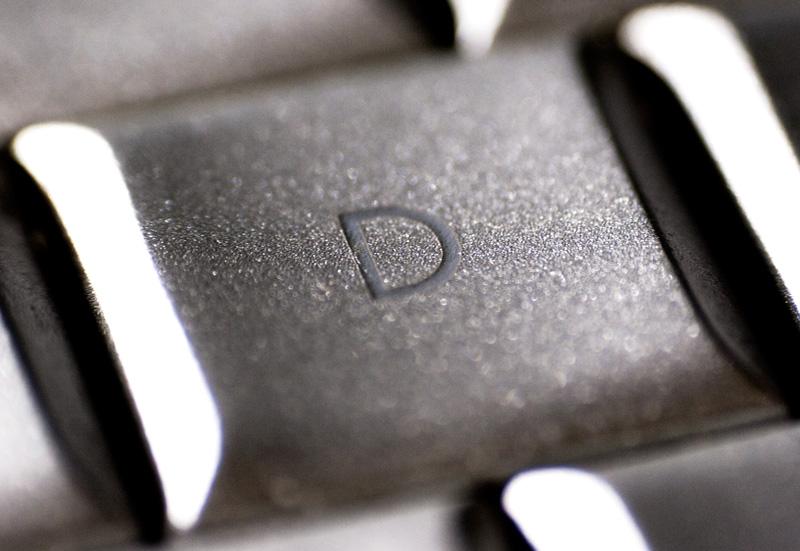 Macro of a Macintosh keyboard