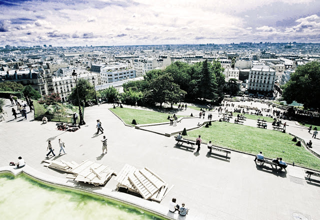 Paris in 2007, the view of the cityscape from Montmartre