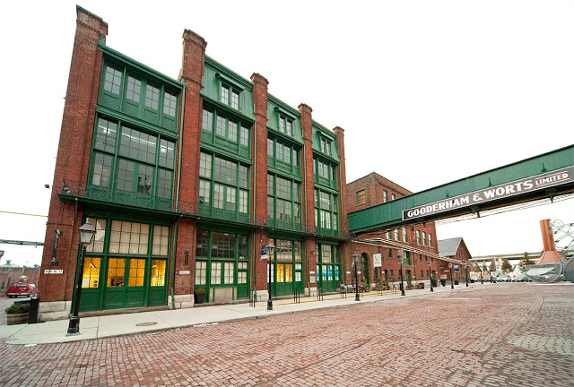Gooderham & Worts Limited in the distillery district in Toronto