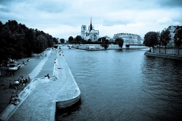 Notre Dame Cyanotype
