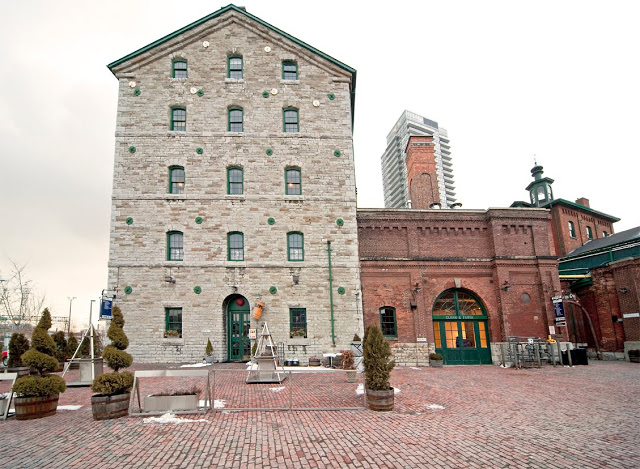 Another photo of a building in the Distillery District.