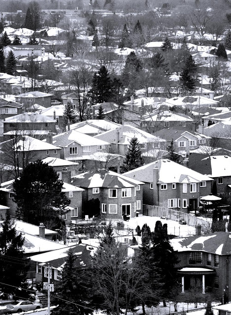 Suburbia in the Winter