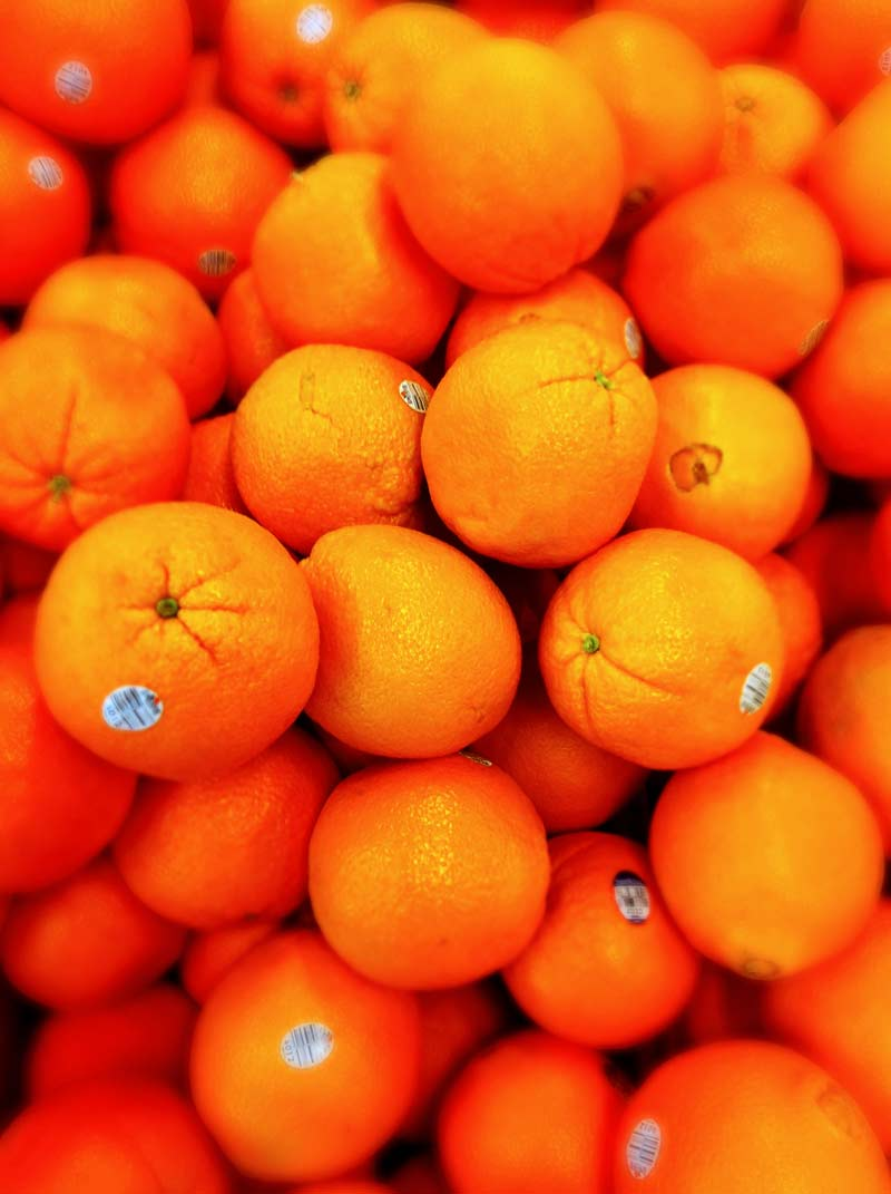 Many many oranges