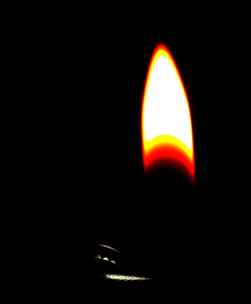 A lighter and flame shot on the iPhone 4