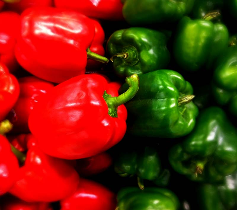Red & Green Peppers