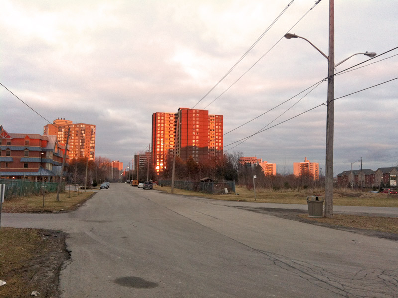 Top of richview road in Toronto