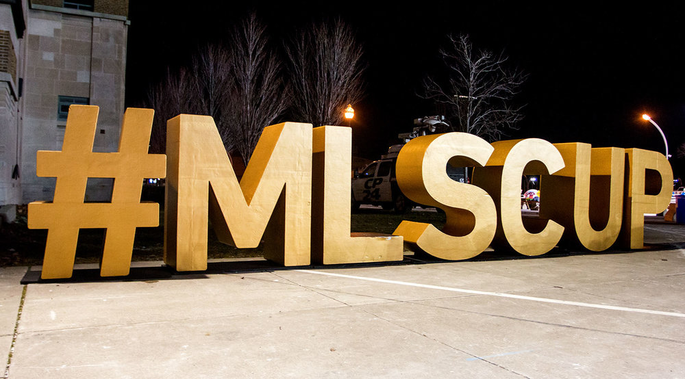 A landmark #MLSCUP sign out side of BMO Field before the MLS Cup on December 10, 2016. Image by Dennis Marciniak.