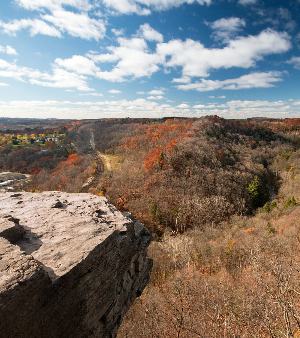 The view from Dundas Peak in Dundas, Ontario near Hamilton on a beautiful fall day. Image by Dennis Marciniak of denMAR Media.