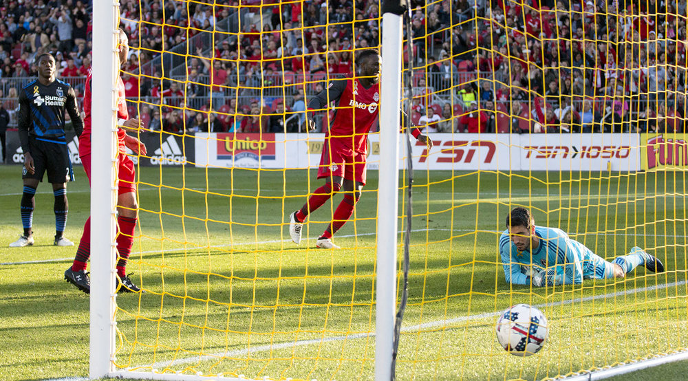The ball hitting the back of the net as Jozy Alitdore scores his second goal of the day in 2017. Image by Dennis Marciniak of denMAR Media.