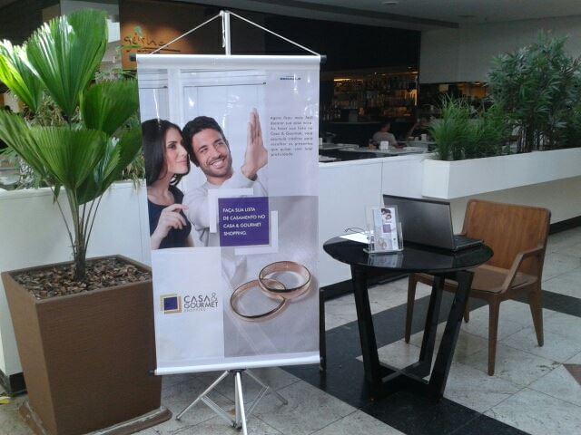 Ação promocional de divulgação do serviço de listas de presentes doListus, no shopping Casa&Gourmet