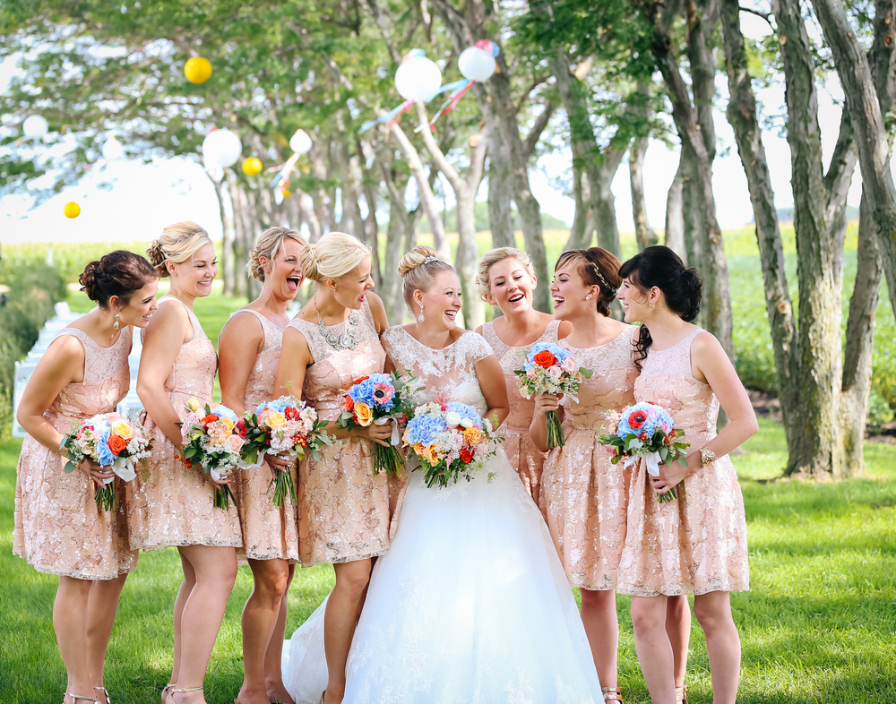Minnesota wedding photographer bridesmaids