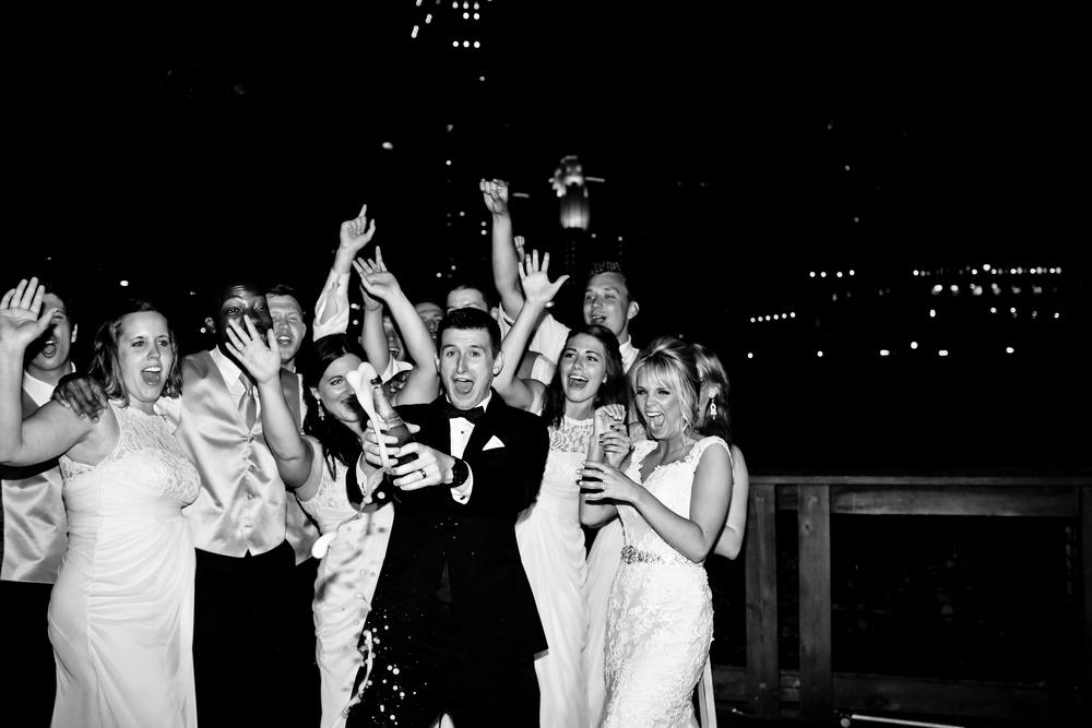 Champagne Pop Nicollet Island Pavilion Wedding Photography