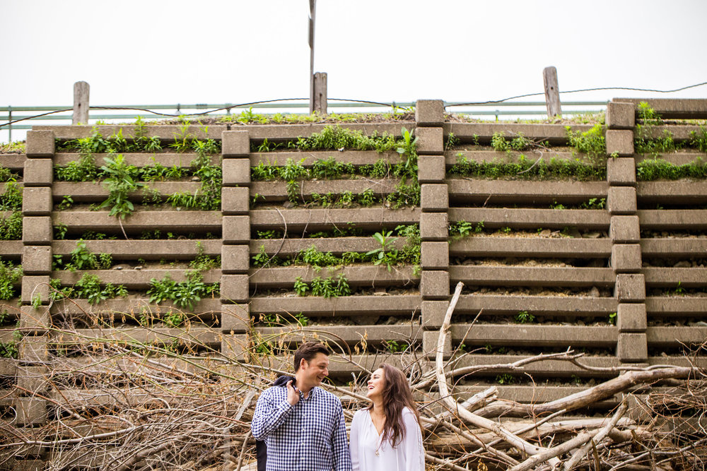 Laughing Engagement Shot in Northeast Minneapolis