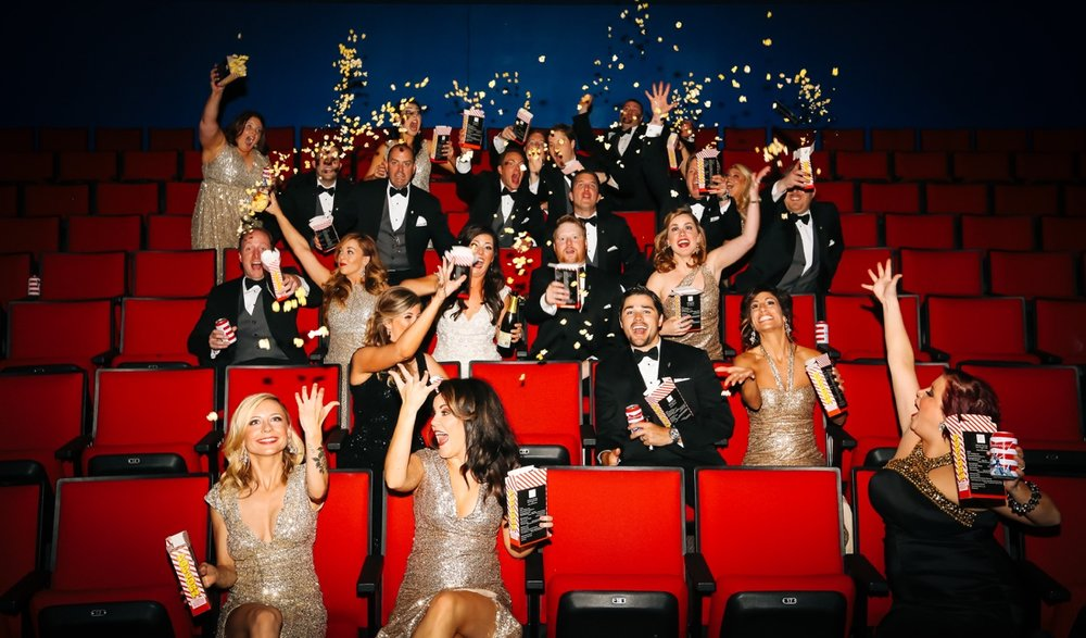 Movie Theater Minneapolis Wedding Photography