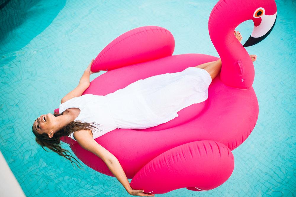 Pink Flamingo Floaty