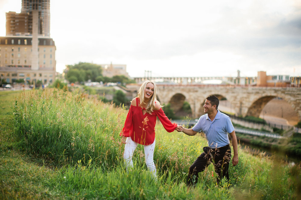 Sunset Engagement Photos in Minneapolis